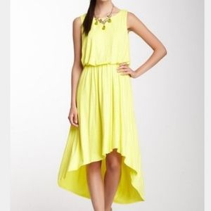 vince camuto high low sundress yellow size 4